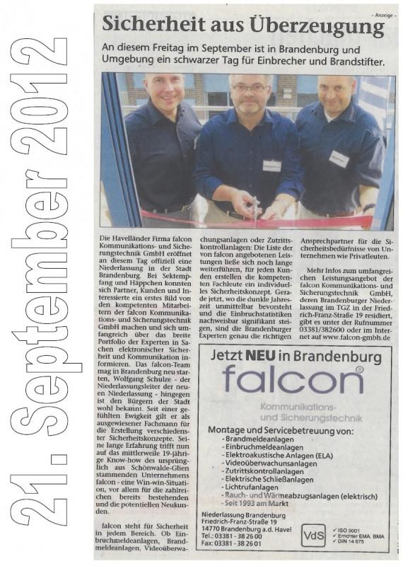 Quelle: Brandenburger Wochenblatt vom 21.9.2012